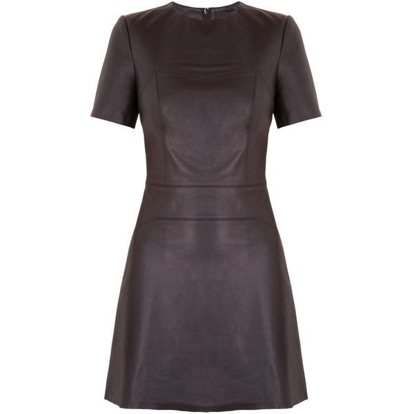 a87f3d21bdc Kendall Kylie Leather Short Sleeve Dress ( 200) ❤ liked on Polyvore  featuring dresses