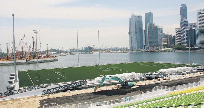 Marina Bay Floating Stadium Singapore Estadio De Futbol Arquitectura Infraestructura