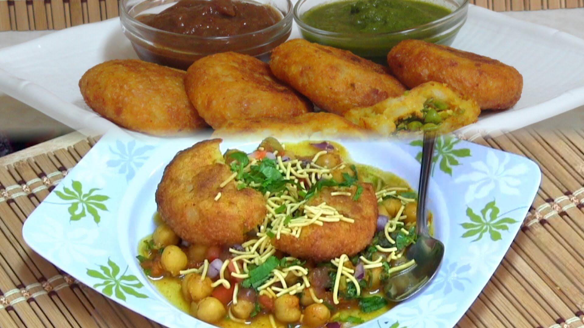 Great Chole Tikki Chaat Recipe Video by Bhavna - Indian Street Food/Snacks Collaboration, ,