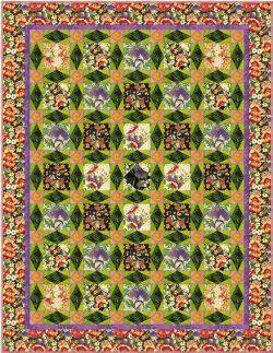 Glorious Garden Floral Quilt   Patterns, Patchwork and Craft : flower quilt patterns beginners - Adamdwight.com