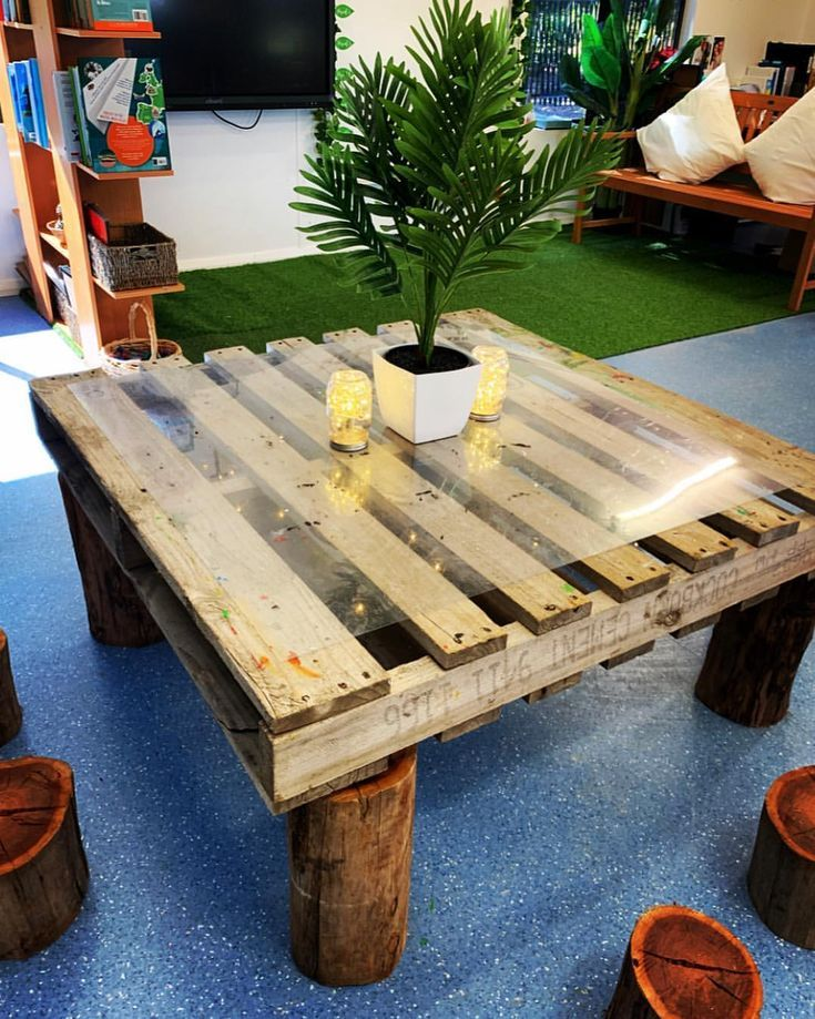 Why have traditional desks when you can use a pallet ...
