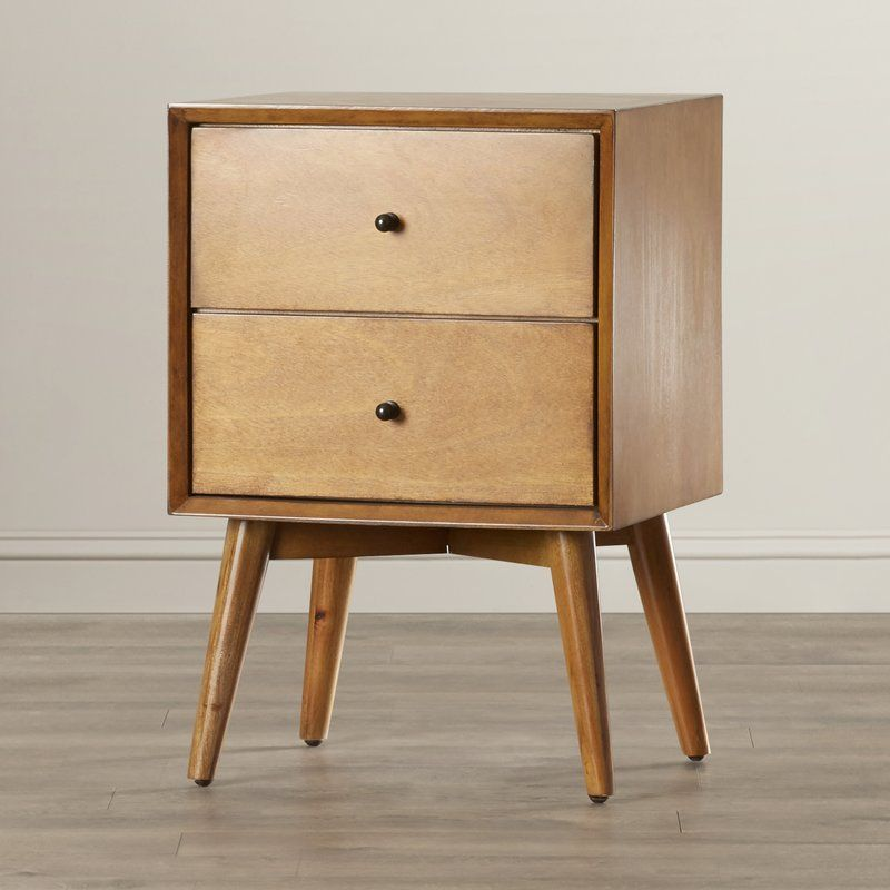 This Wood Nightstand S Tapered Legs Offers Midcentury Appeal For Your Master Suite Let It Stand Out Among Your Traditiona Leopard Pillows Zebra Rug Nightstand