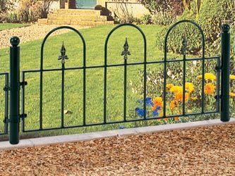 Elegant Mini Wrought Iron Garden Railings