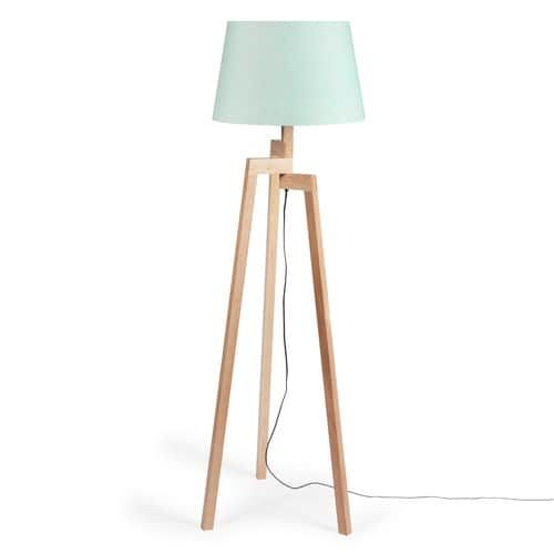 Elegant Dreibein Stehlampe aus Holz Pastel H cm