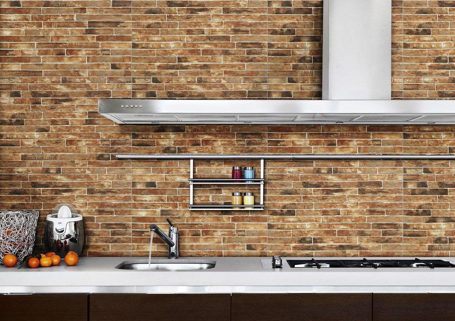 Brick Effect Kitchen Wall Tiles | Kitchens | Pinterest | Wall tiles ...