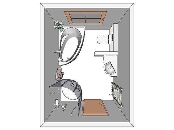 Aufteilung kleines bad bad pinterest badezimmer for Aufteilung badezimmer