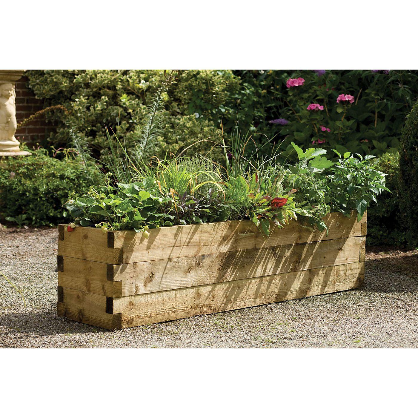 Larchlap Caledonian Planter 45 x 180 x 45 cm Garden
