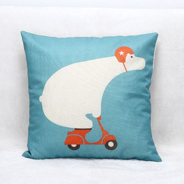 Cute Animals Sofa Car Cushion Animal Pattern Printed 45x45cm Cartoon Unicorn Pillow