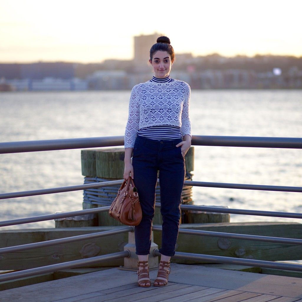 Nautical Stripes and the Sunset at the Pier
