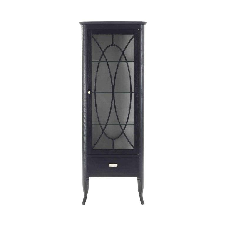 Dolcevita Small 1 Door Display Cabinet Bookcase With Glass Doors Door Displays Small Display Cabinet