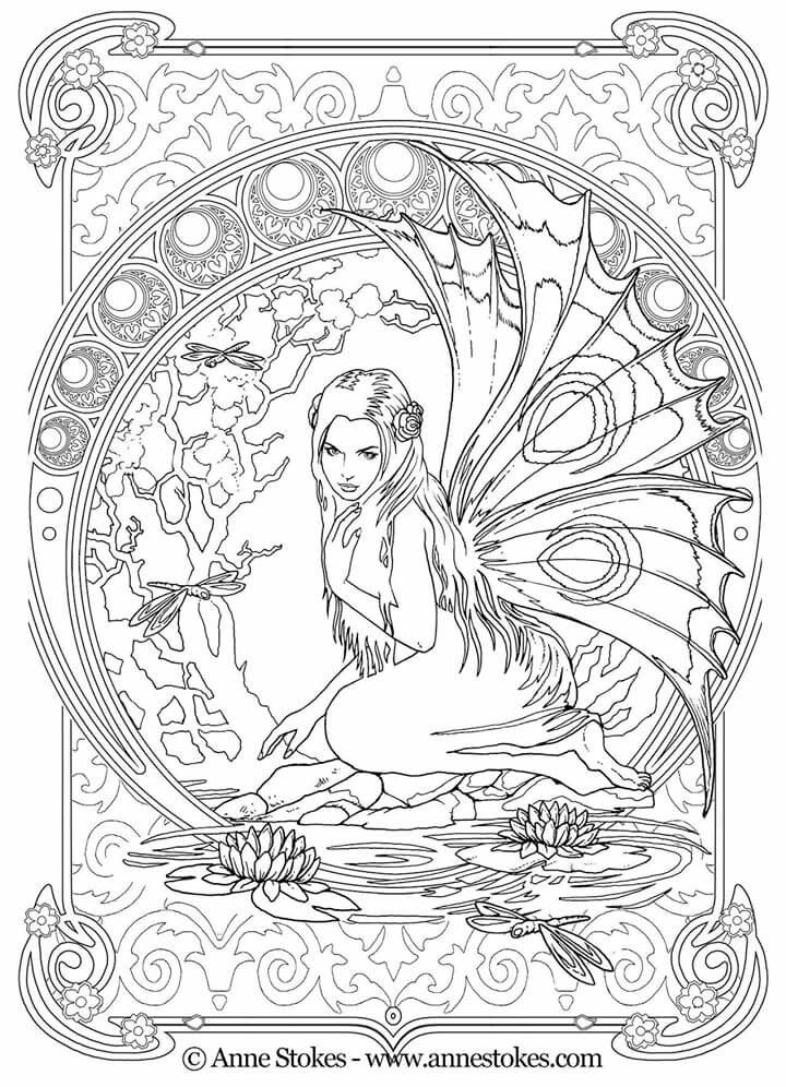 Anne Stokes Fantasy Art Colouring Book Fairy Coloring Pages, Fairy  Coloring, Coloring Books