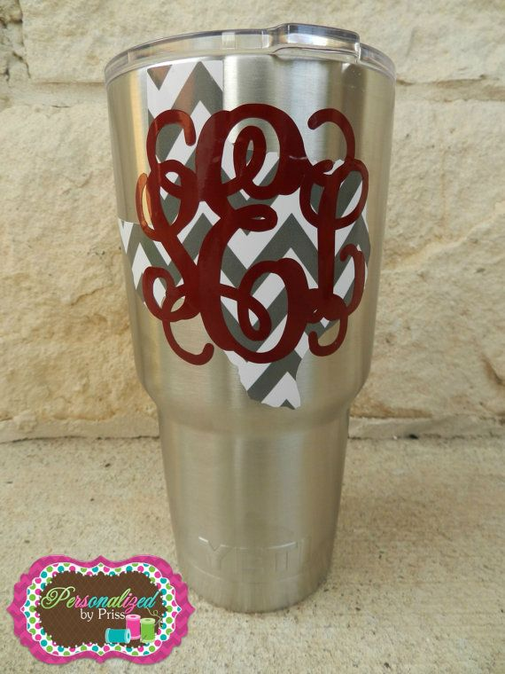 Yeti Rambler State Monogrammed Cup 30 Oz Pick Your State
