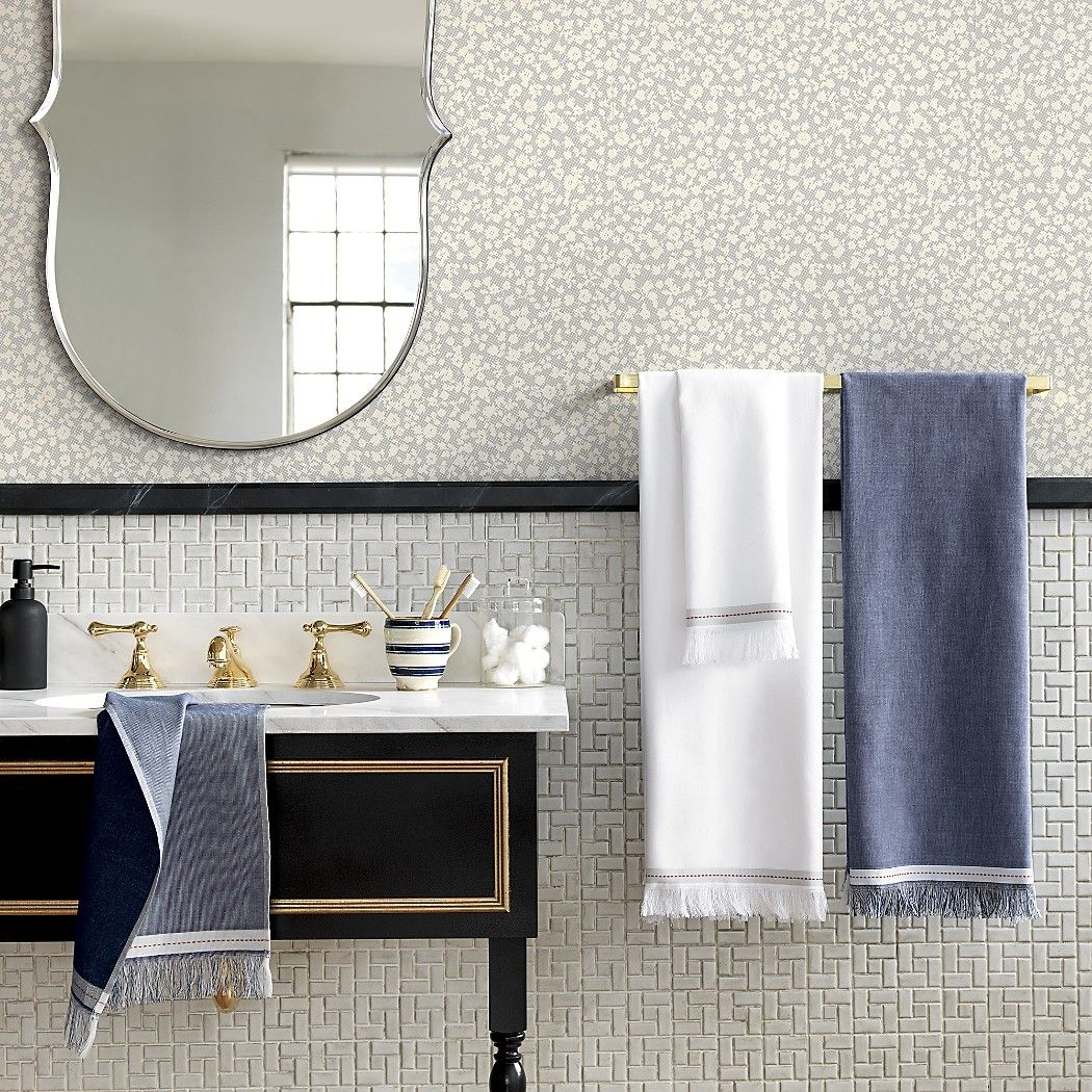 The Hill-Side selvedge navy bath towel - SOLD OUT | Home | Pinterest ...