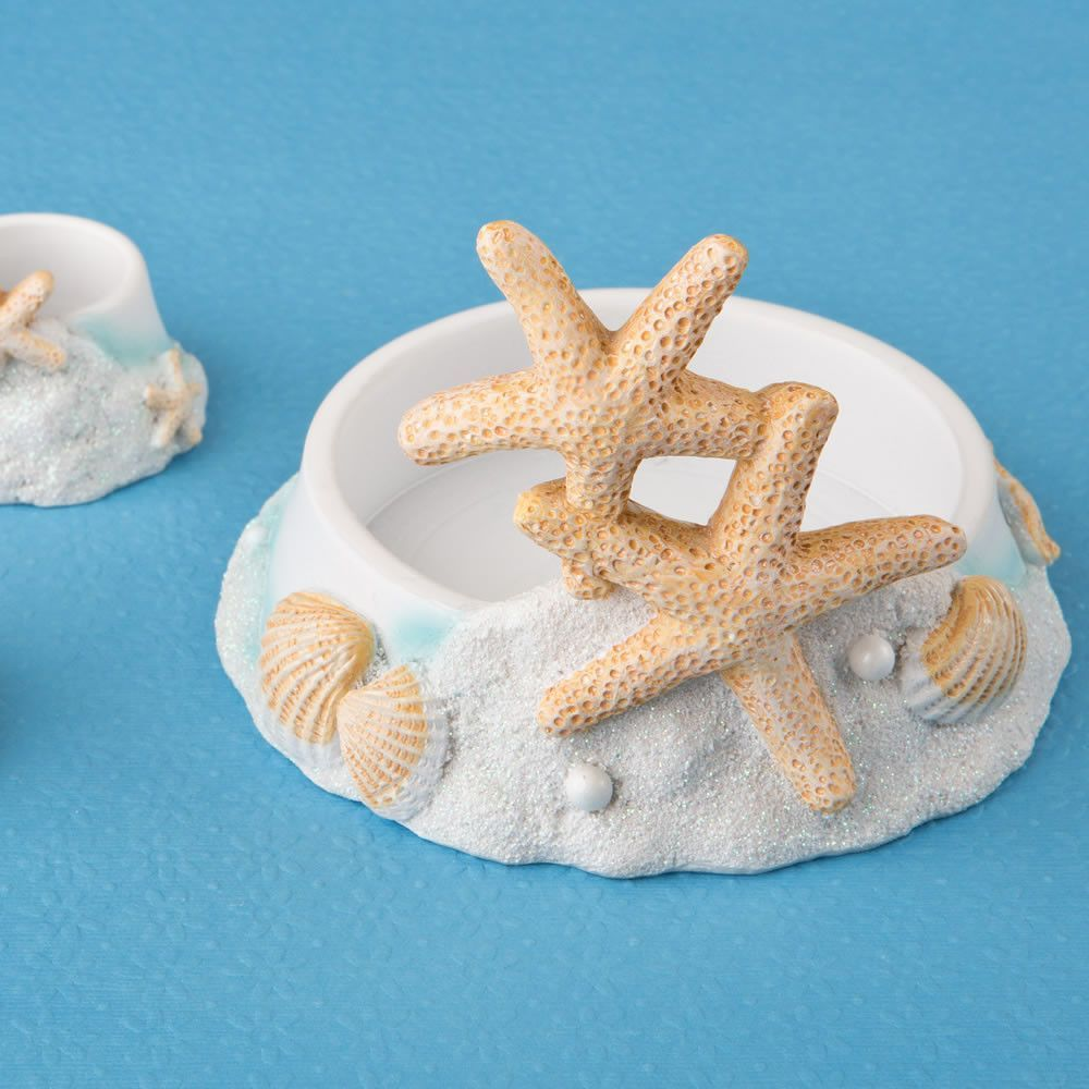 Beach Wedding Candle Ceremony: Beach Theme Unity Candle Holder Set