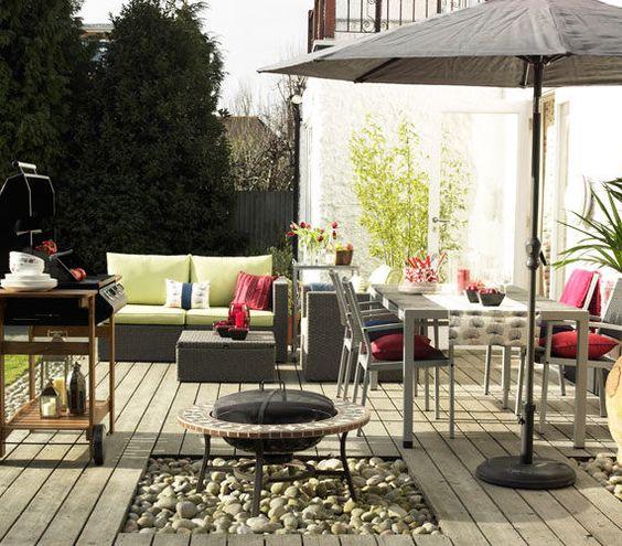 Gartendeko selber machen u2013 farbenfrohe DIY Gartenideen - essecke - feuerstelle selber machen