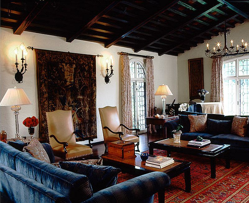 Delightful Spanish Colonial Revival Living Room