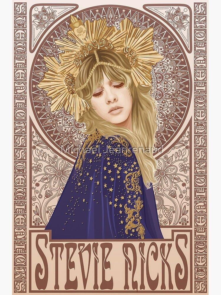 Stevie nicks illustration framed print by michael