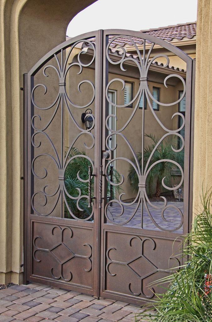 Custom Iron Gate Firstimpression Puertas Para Patios Modelos