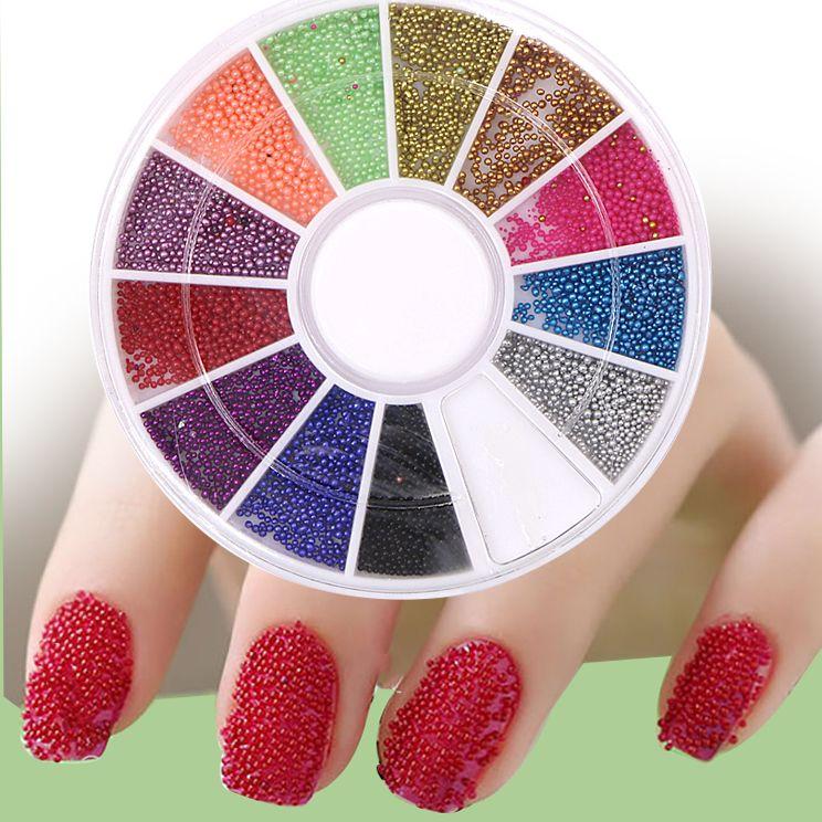 1set Colorful Nail Art Beads Crystal Rhineston Makeup Rhinestones
