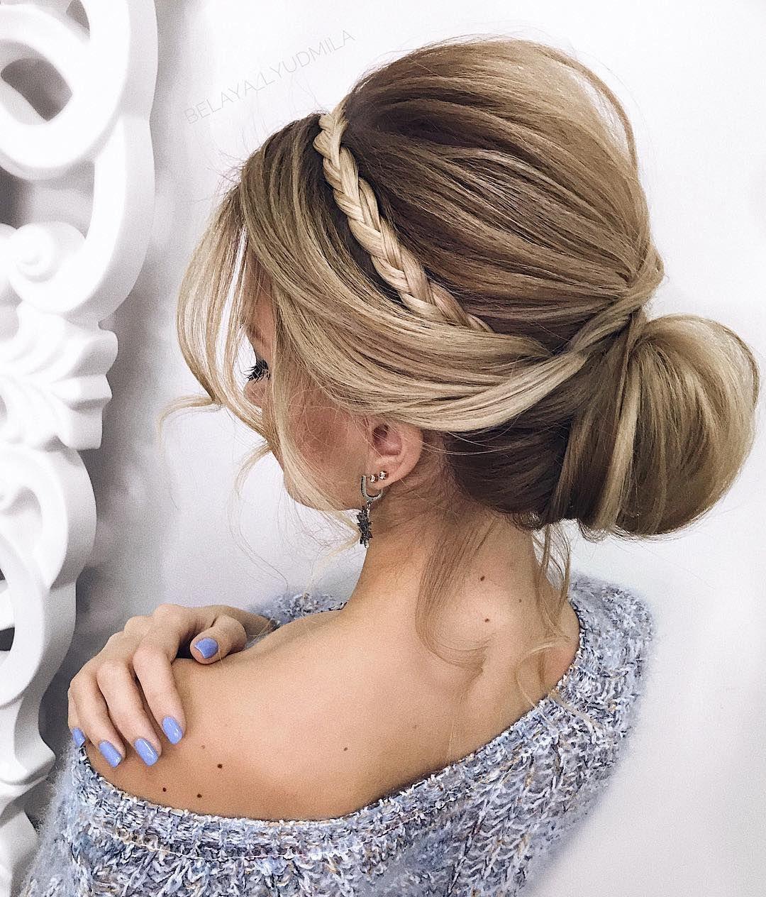 gorgeous updo wedding hairstyle inspiration braids braided