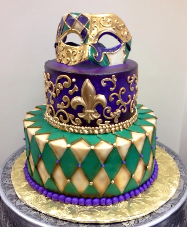 Magnificent Weddings With Images Mardi Gras Cake Mardi Gras Wedding Funny Birthday Cards Online Alyptdamsfinfo