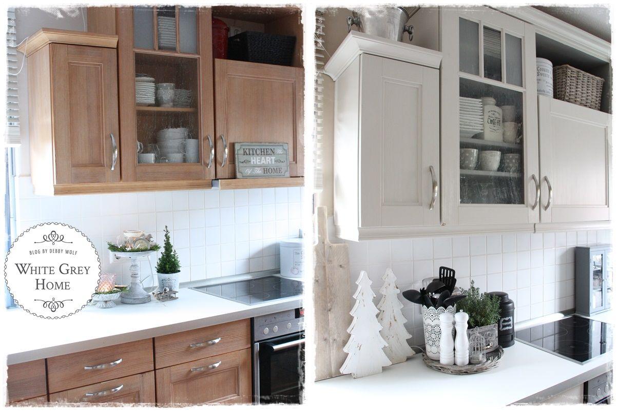 vorher nachher in einer landhausk che kitchen pinterest haus kuchen und k chenm bel. Black Bedroom Furniture Sets. Home Design Ideas