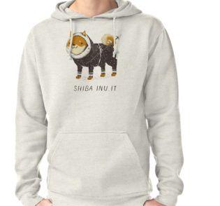 Hoodie mit lustigem Shibu Inu Hund | gemütlich | Kapuzenpulli | Illustration | Shibu Inu-It von Louros