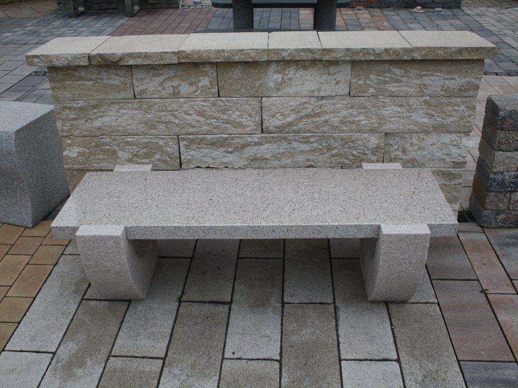 Gartenbank Edelstahl Granit Naturstein Tonga Decor Outdoor