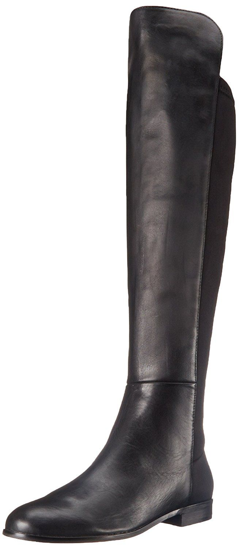 Corso Como Women's Laura Riding Boot, Black Soft vintage/Black Neoprene, 10 M  US