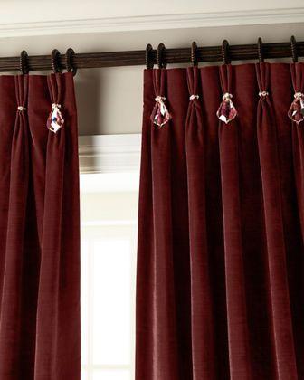 Misti Thomas Modern Luxuries 132l Velvet Curtain With Asfour
