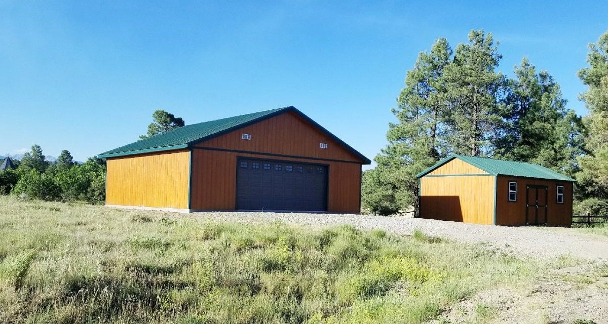 The Ultimate Storage Solution With A 30x30 Garage And A 18x20 Storage Shed These Homeowners Have All The Storage Space Th Shed Construction Shed Storage Shed