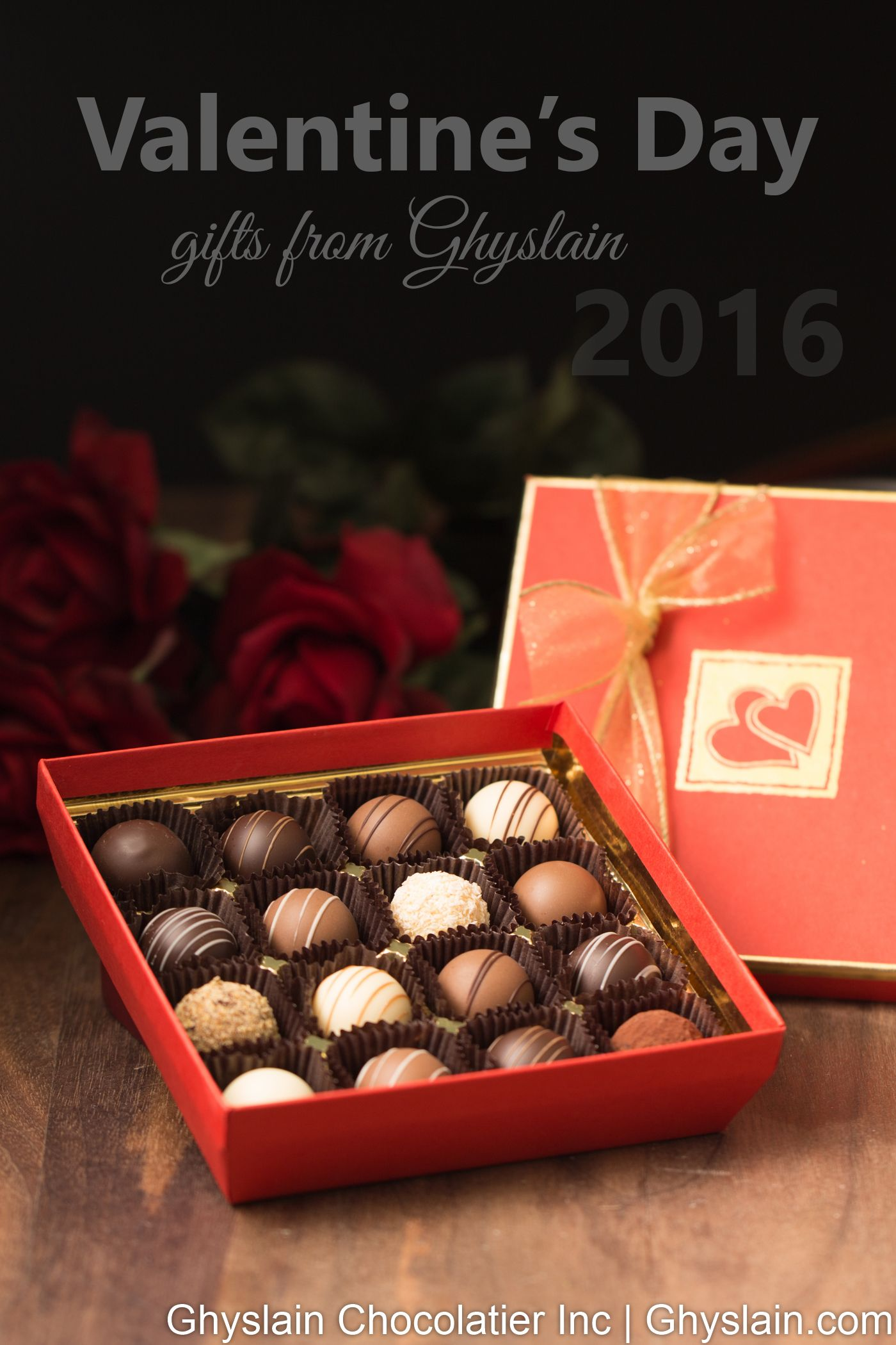 A beautiful box of gourmet chocolate truffles for the most ...
