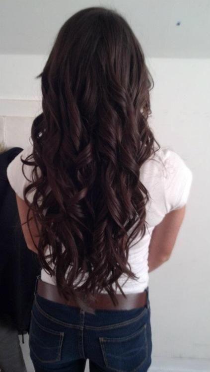 Lange Dunkelbraune Haare