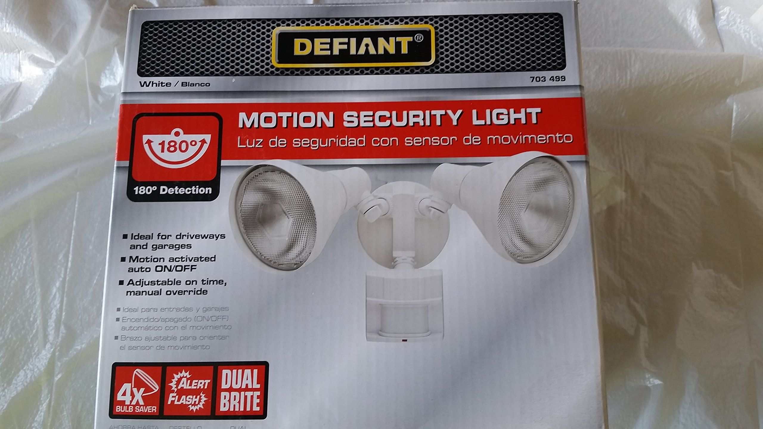 Defiant 180 Degree Motion Security Light Security Lights Motion
