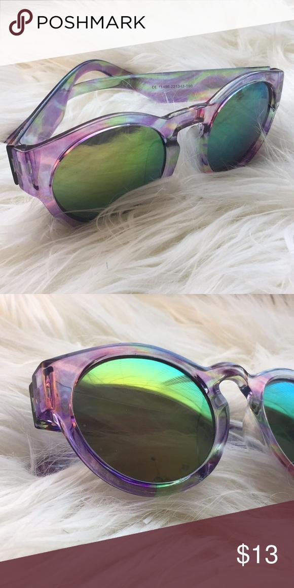 8e05d30f56b7 Forever 21 round purple multicolored sunglasses Cute! Great condition  Forever 21 Accessories Sunglasses