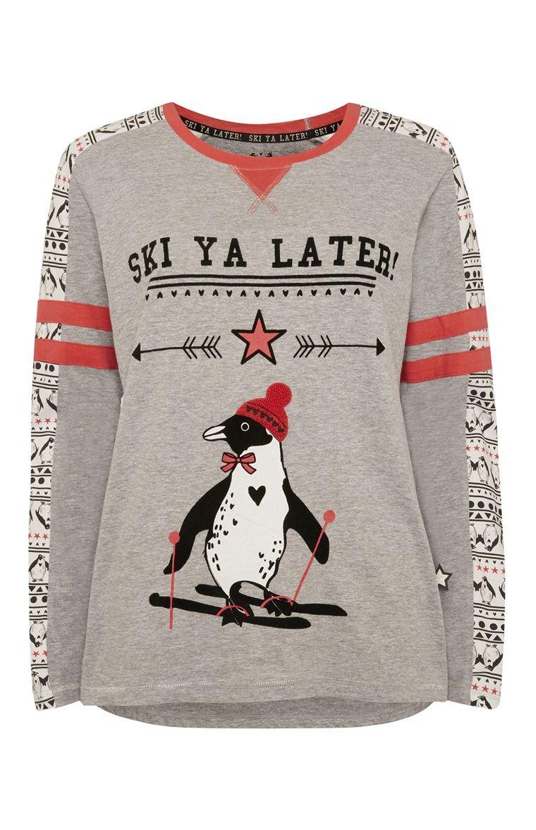 Primark - Ski Ya Later Pyjama Penguin Top | Christmas | Pinterest ...