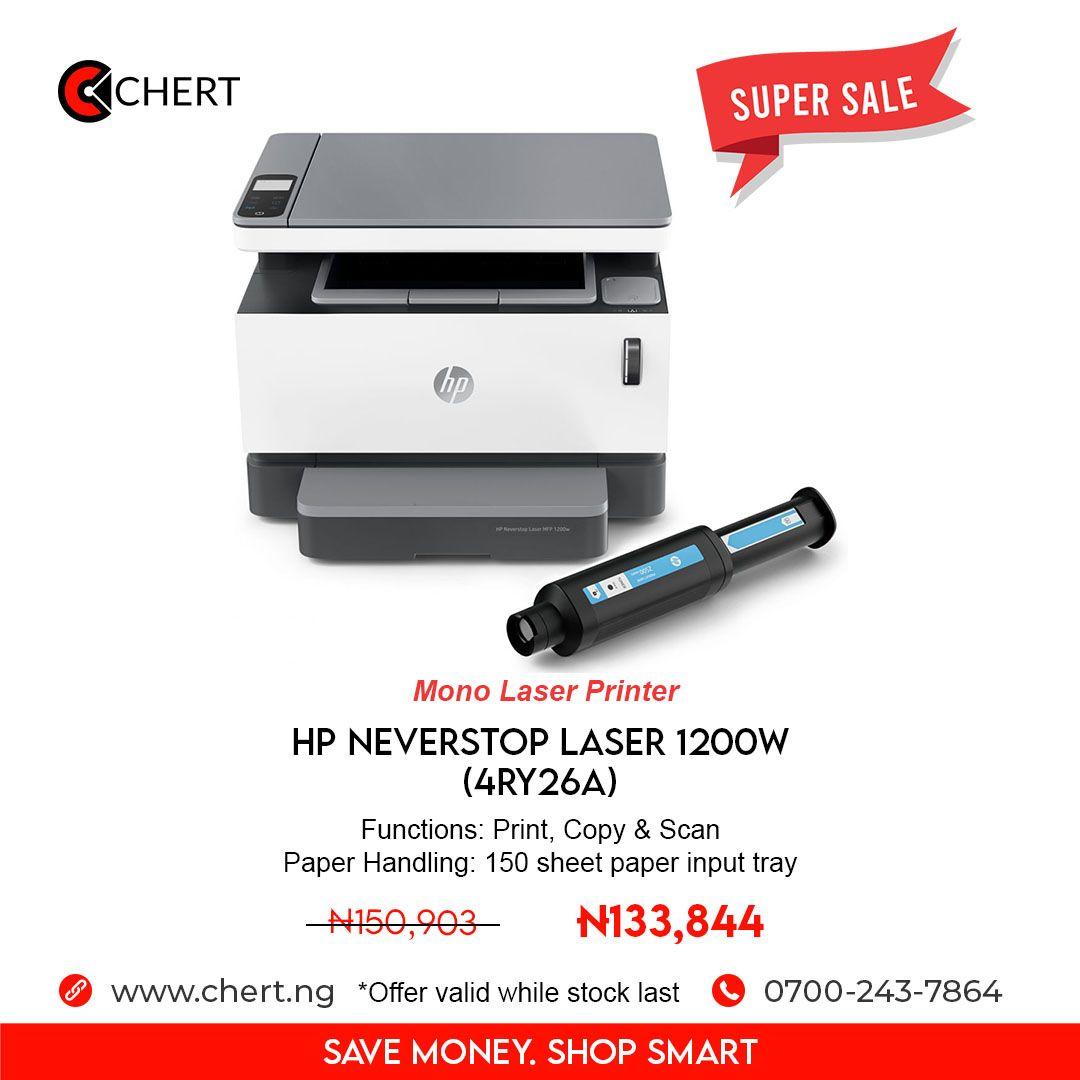 Hp Neverstop Laser 1200w Mobile Print Paper Handling Fast Print