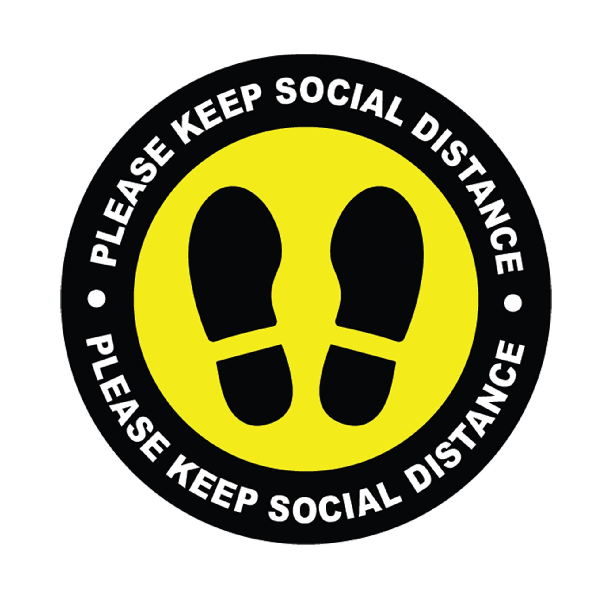 Social distancing selfadhesive stickers Keep social