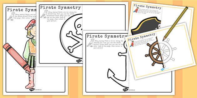 Pirate Symmetry Worksheets - pirate, symmetry, worksheets, sheet ...