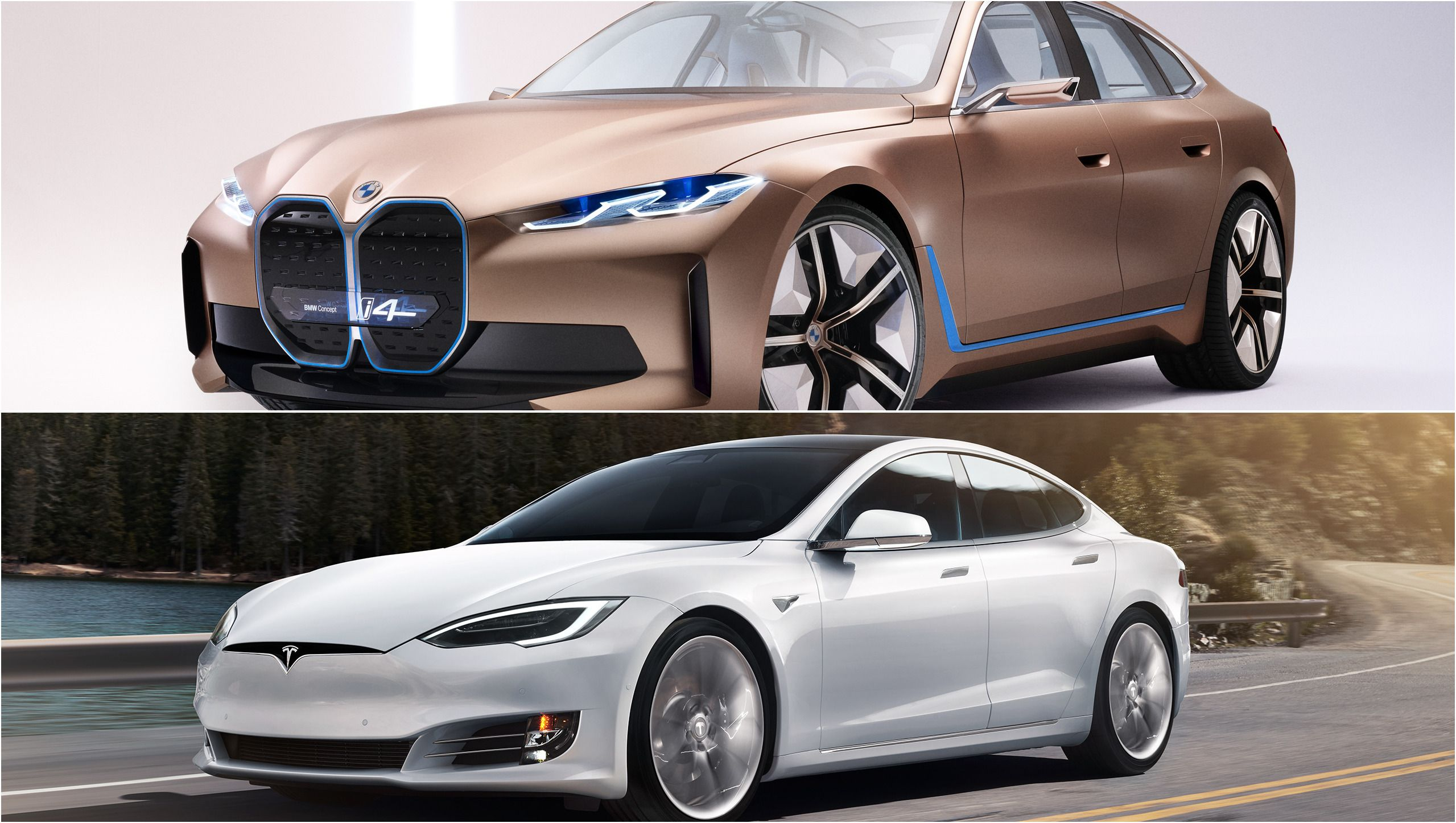 2021 Bmw I4 Vs 2020 Tesla Model S Top Speed In 2020 Tesla Model S Bmw Tesla Model