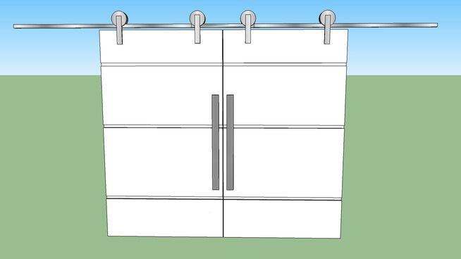 Porta de Correr Dupla para Sala - 3D Warehouse SLIDING DOORS FOR MAIN CONFERENCE