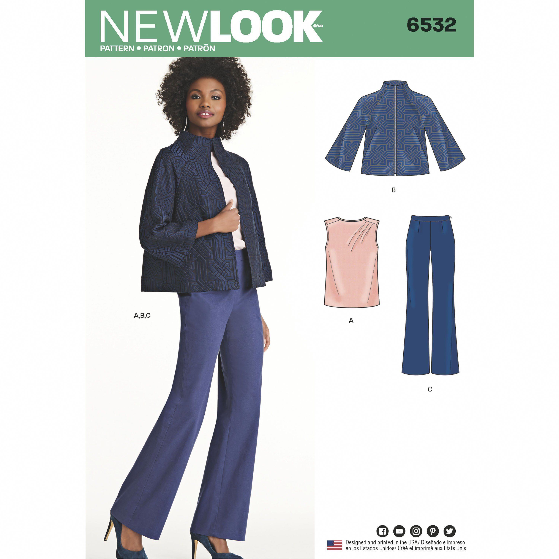 15cd256c2253e2 New Look New Look Pattern 6532 Misses  Pants