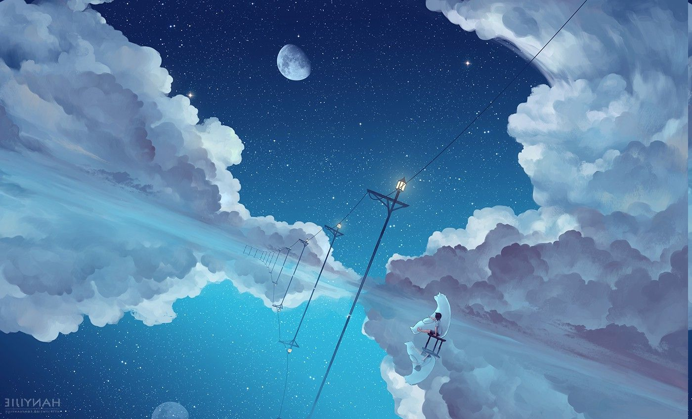 Download hd wallpapers of 86873-anime, Clouds, Sky. Free download High Quality and Widescreen Resolutions Desktop Background Images.