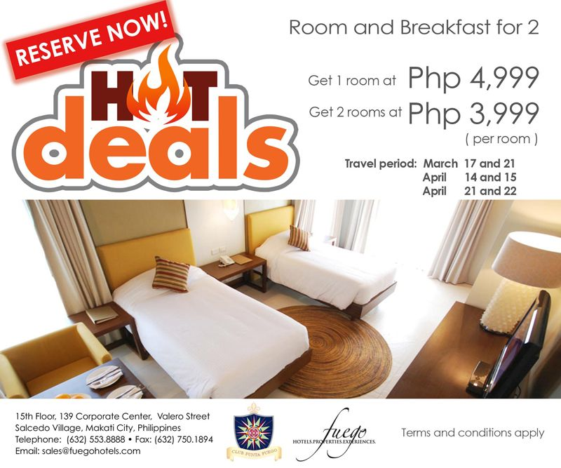 The Summer Heat Is On Hot Deals At Club Punta Fuego Room Room And Breakfast For 2 Get 1 Room At Php 4 999 Room Get 2 Ro Makati City March 17th April 21