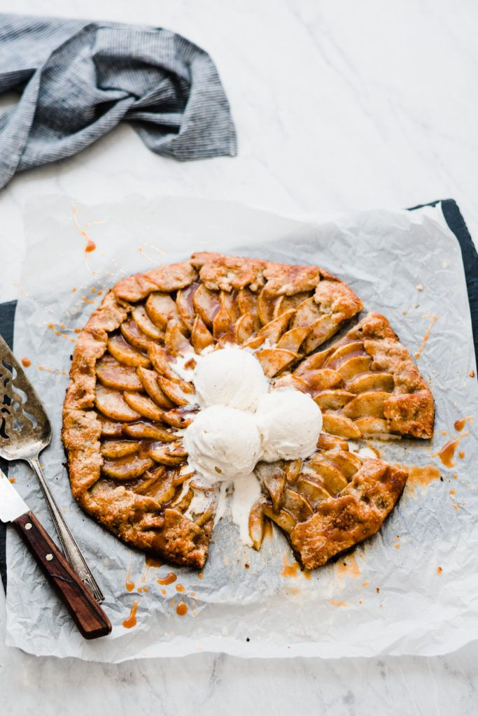 Caramel Pear Galette Salted Caramel Pear Galette – A show-stopping fall dessert! Flaky, buttery pie crust is filled with fresh, tender, sweet pears - all topped off with a simple homemade salted caramel sauce. Don't forget the vanilla ice cream! |