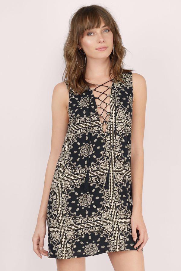 Great Plains Lace Up Shift Dress at Tobi.com #shoptobi