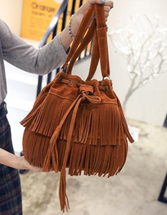 Retro Faux Suede Fringe Women Bag Messenger Bags New Handbag Tassel Shoulder Handbags Crossbody