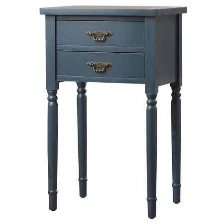 Coquettish and feminine, the Marilyn End Table is inspired by the boudoirs of great French courtesans. Bathed in a teal painted finish on poplar wood, its...