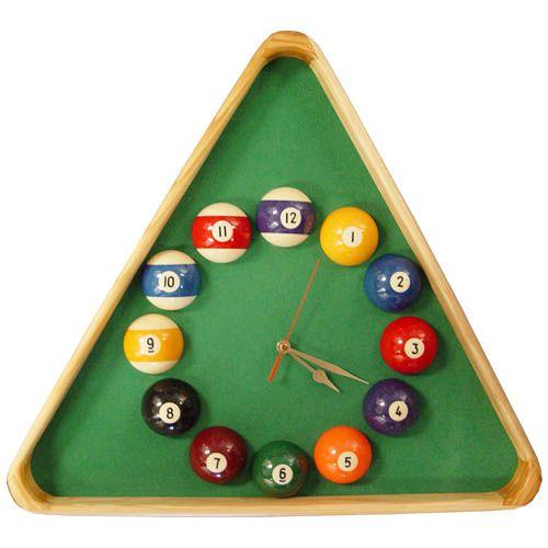Pool Rack Clock Billiards Clock Game Room Family
