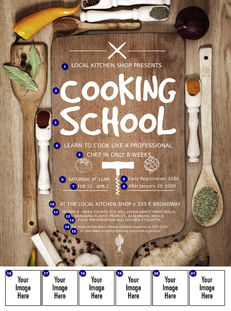 Cooking School Logo Flyer Cooking Classes For Kids Cooking School Cooking Classes Design